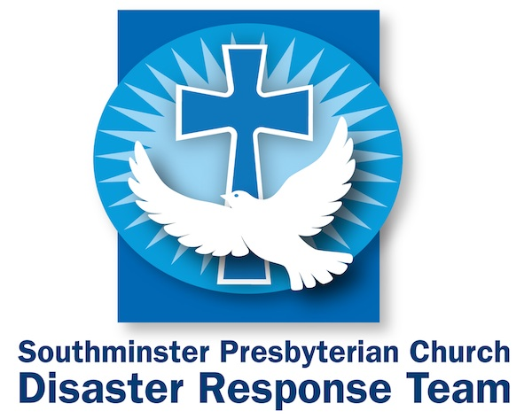 sunburst, cross, dove logo for smpc disaster response team